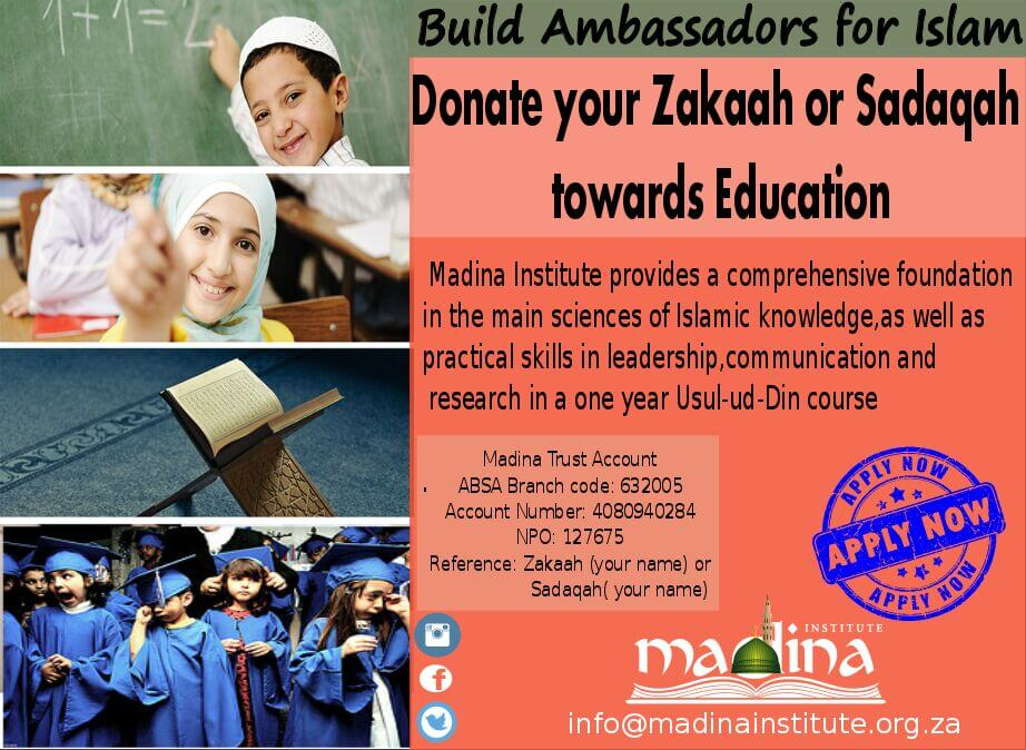Donate your Zakaah and Sadaqah
